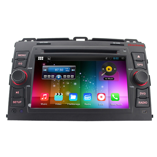 Quad core 2 Din HD1024*600 Android 4.4 Car DVD player for Toyota Prado Land Cruiser 120 2002-2009 with GPS,Radio,RDS,BT,G WIFI(China (Mainland))