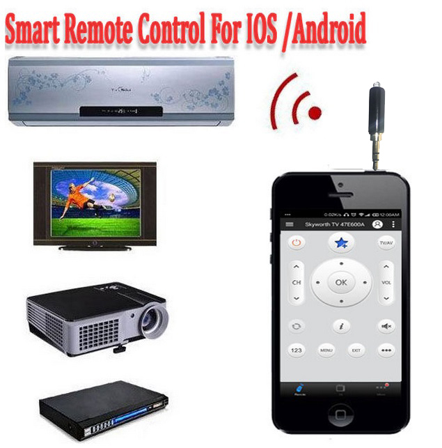 Universal Remote Control Mini Smart IR Wireless 3.5mm Plug For IOS iPhone Android Phone TV Air Conditioning STB Camera Projector(China (Mainland))