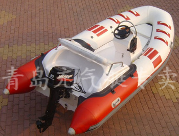 Free shipping 40% off A large number of wholesale 4.2 meters rib boat glazed steel inflatable boat yacht  Home