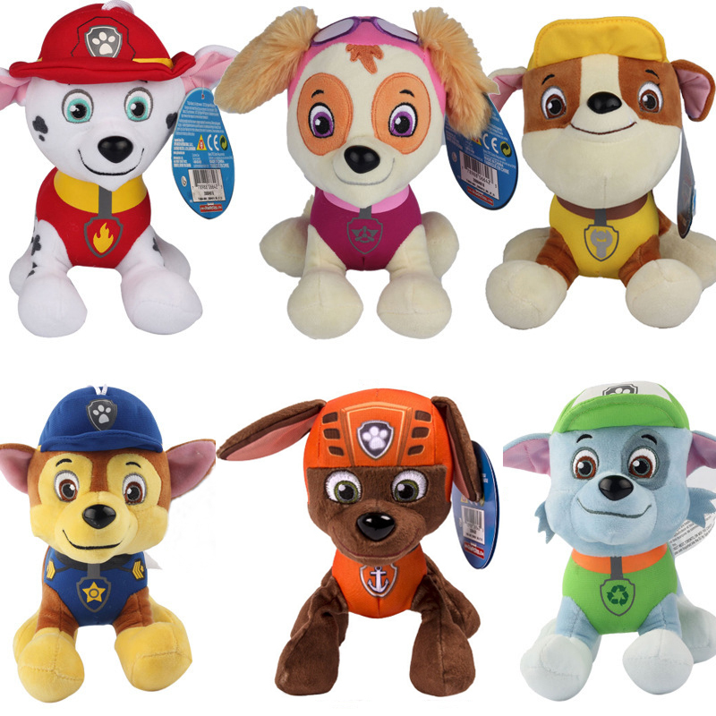 12cm Patrulla Canina toys PP Cotton Soft Dog Original Puppy Patrol Canine Plush Dolls Juguetes Canine Patrol plush animals toy(China (Mainland))