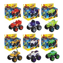 Hot Sale 6pcs/set Blaze Monster Machines Toys Vehicle Car Pickle Zeg Darrington Crusher Stripes Original Box Best Gifts For Kids(China (Mainland))