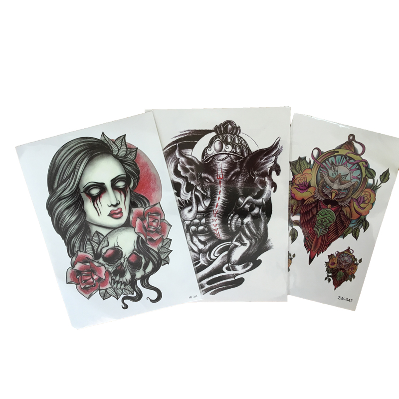 3PCS Trendy Tattoos 3D Tattoo Sleeve Waterproof Temporary Tattoo Sticker For Body Art Tattos Women And Men Arm Beauty(China (Mainland))