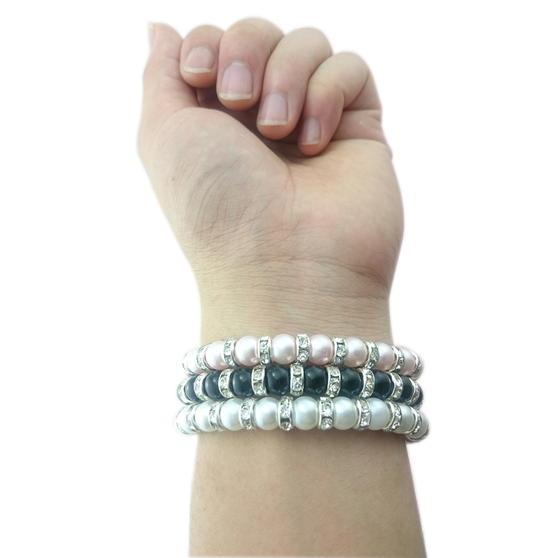 8 Pins Diamond Durable Wearable Wristband Wrist Band Bead USB Charger Cable Jewelry For Samsung iphone SE 5S 6S Plus Android 1C5(China (Mainland))
