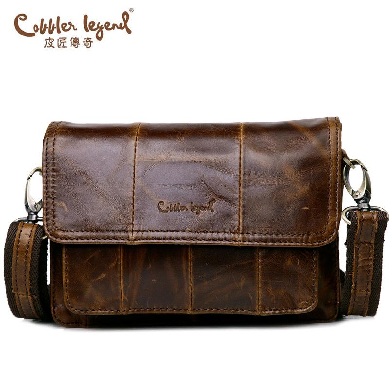 Cobbler Legend Brand 2016 Real Leather Man Clutch Bag With Men's Messenger Belt Business Crossbody Shoulder Bag Handbags For Man(China (Mainland))