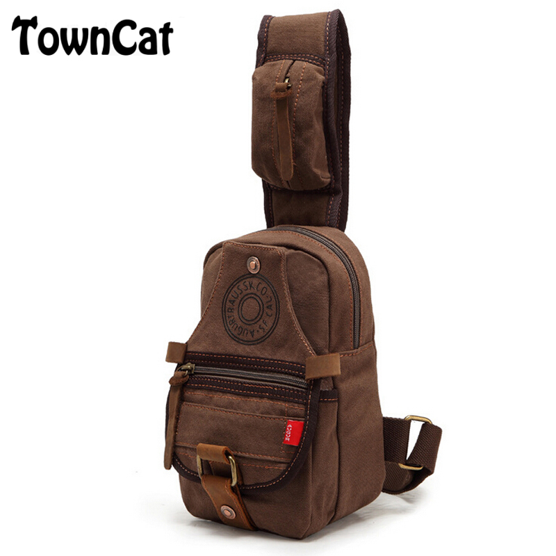 Vintage Men's Chest Pack Cross Body Single Shoulder Messenger Bags Outdoor Sports Motorcycle Ride Bicycle Bag(China (Mainland))