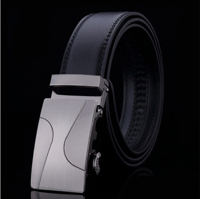 Belts 2015 new men's fashion casual men's automatic belt buckle belt leather floor gentleman two buckle belt(China (Mainland))