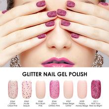 Buy FOCALLURE Shimmer Giltter Gel Varnish UV LED Soak Polish Nail Art Full Set UV Gel Kit Manicure UV Nail Polish 15ml for $2.62 in AliExpress store