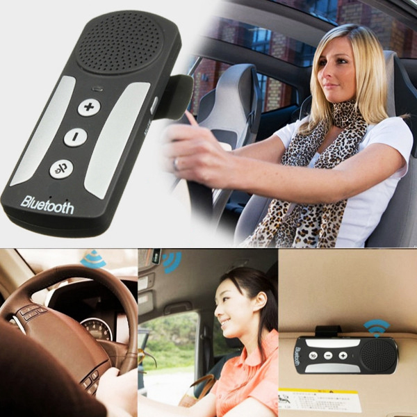 Гаджет  Exquisite Wireless Handsfree Bluetooth Multipoint Speakerphone Speaker Auto Car Kit with Charger Visor Clip For Mobile Phone None Автомобили и Мотоциклы