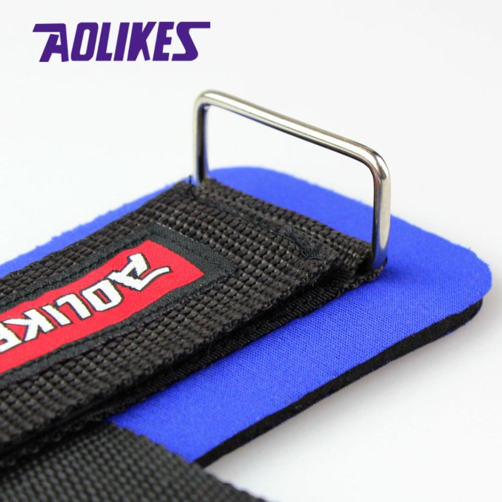 AOLIKES 1 Pair Gym Sport Wristband Fitness Dumbbells Training Wrist Support Straps Wraps With Hand Power Bands Horizontal Bar