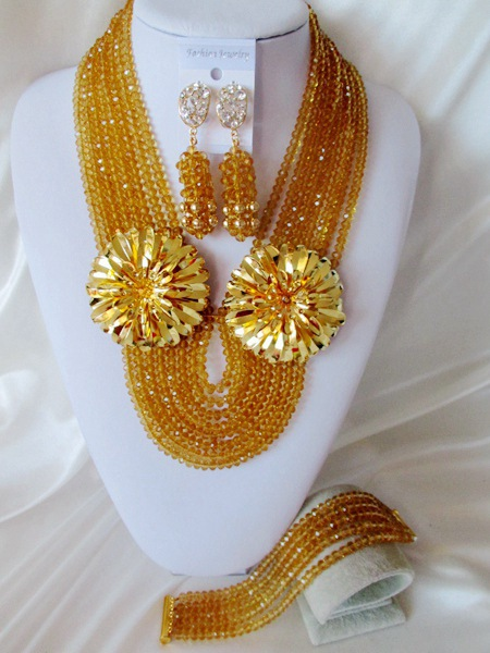 Classic new african beads Jewelry set crystal beads necklace set nigerian wedding african jewelry set free shipping  WI-2036<br><br>Aliexpress