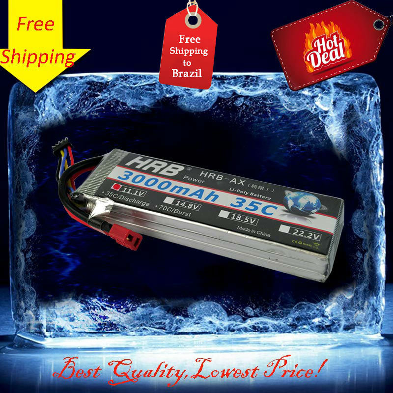 Free Shipping HRB 3s lipo battery 11.1V 3000mAh 35C RC LiPo batteria for FPV helicopters Quadcopter rc car airplane(China (Mainland))