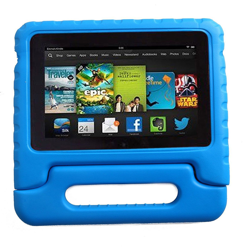 New Kids Children Safe Rugged Proof Foam Case Handle Stand For Amazon kindle fire 7 case 2015