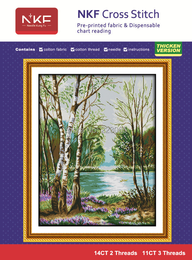 Newest Landscape style needlework kit counted cross stitch 11CT&14CT unfinishing set for embroidery wall decor free shipping(China (Mainland))