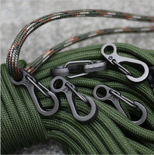 10PCS/LOT Mini SF Spring Backpack Clasps Climbing Carabiners EDC Keychain Camping Bottle Hooks Paracord Tactical Survival Gear(China (Mainland))