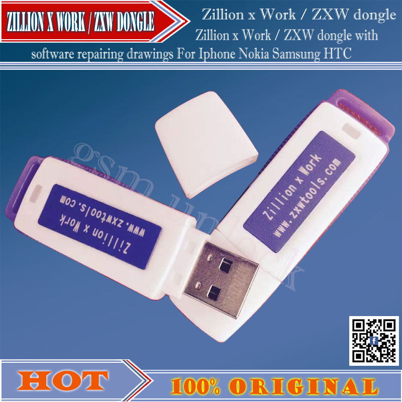 ZXW dongle Zillion x Work / with software repairing drawings For Iphone Nokia Samsung HTC and so free ship(China (Mainland))