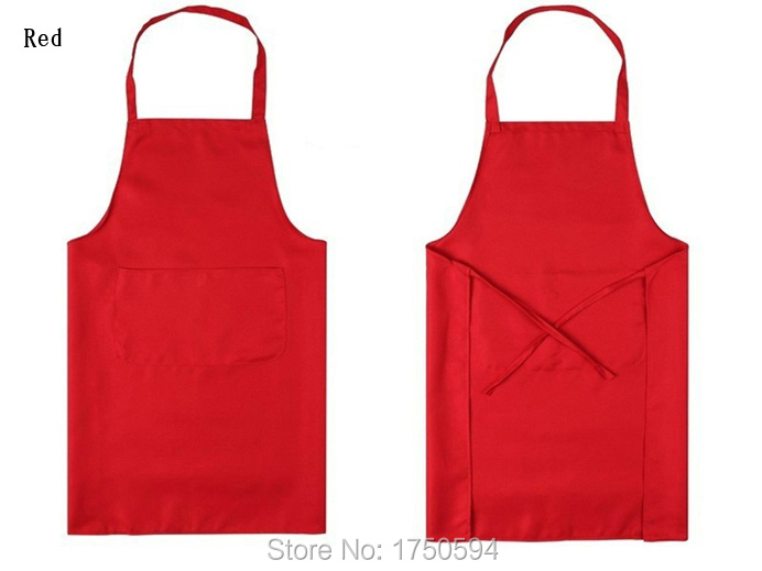 2015 Hot Sale Unisex Restaurant Home Kitchen Cooking Shop Craft Work Apron With Pockets Women Men