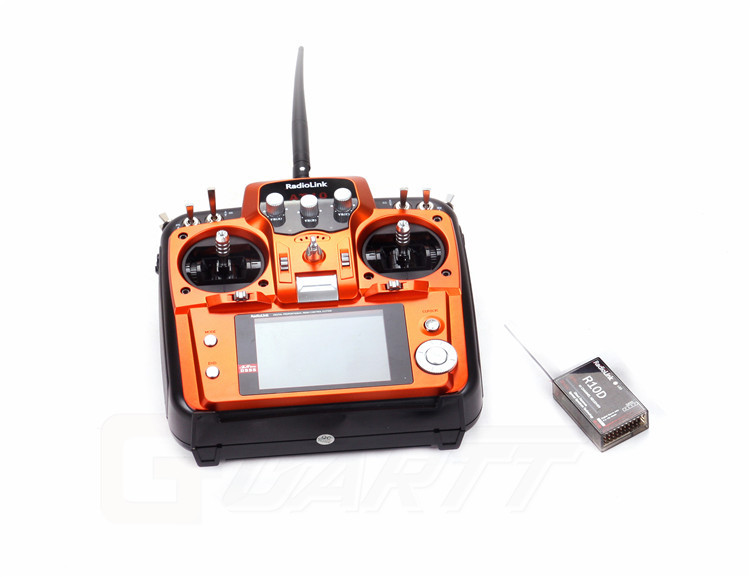 Radiolink 2.4GHz 10 Channel AT10 Transmitter Radio & R10D Receiver for RC Helicopter airplane quadcopter drone