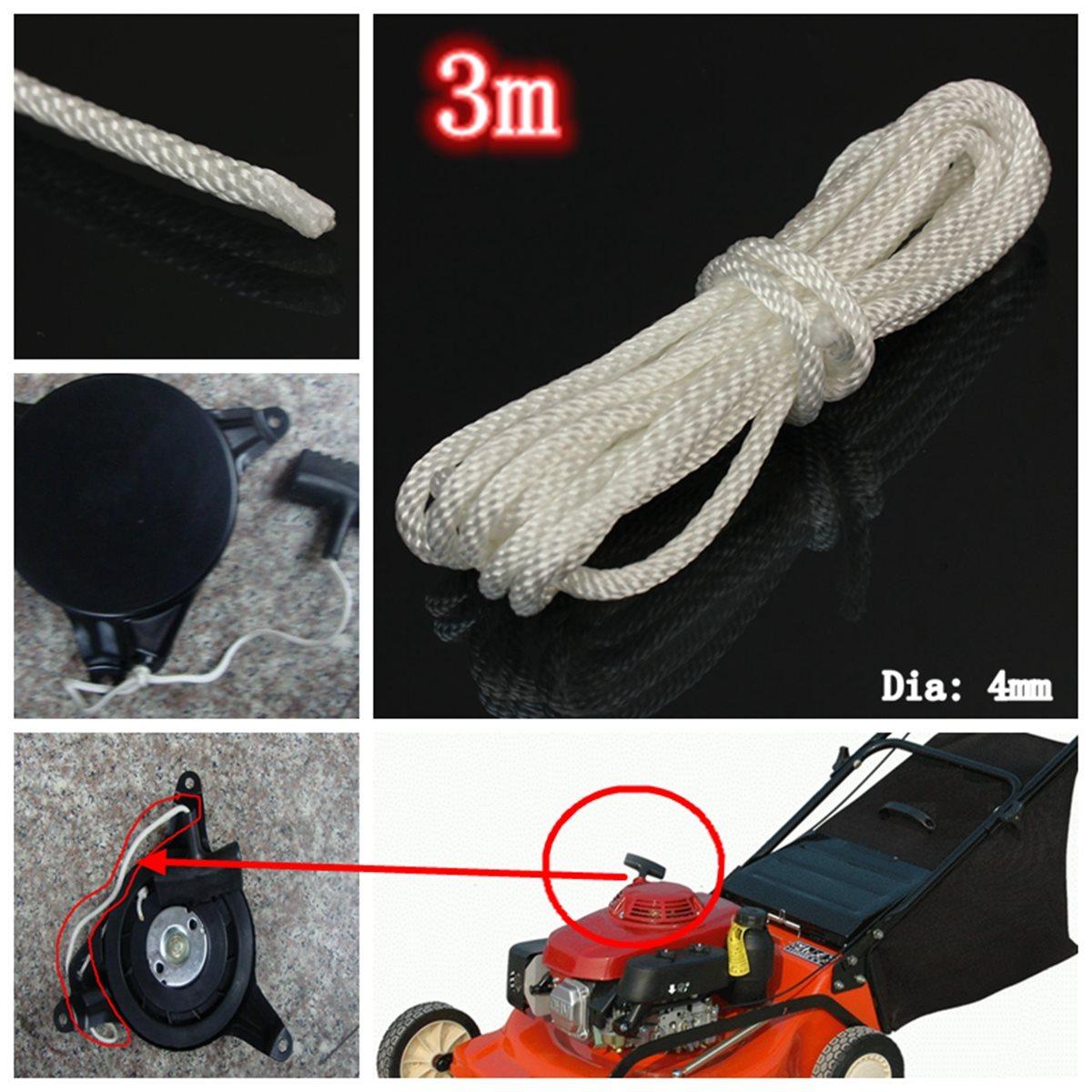Тяжелых 4 мм x 3 м нейлон тянуть стартер начала отдачи шнур веревка для газонокосилка новый