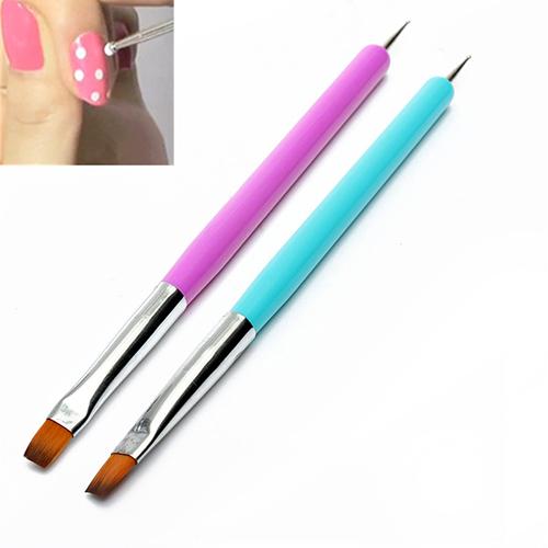 Hot 2015 New Arrival Promotion 2 Ways Nail Art Pen Painting Dotting Acrylic UV Gel Polish