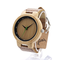 BOBO BIRD D17 Retro Bamboo Wooden With Mental Watches Luxulry Brand Designer Watch Leather Band marcas
