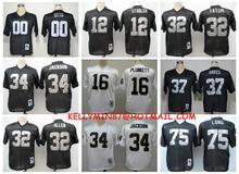 Stitiched,Oakland Raiders,Jim Otto,Kenny Stabler,Jim Plunkett,Jack Tatum,Marcus Allen,Bo Jackson,Ronnie Lott,Howie Long,T.Brown()