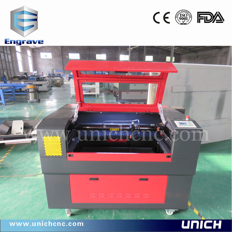 Unich high technology mini co2 laser cutting machine9060/stainless steel laser cutting machine(China (Mainland))