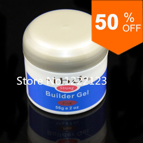1pcs IBD Builder Gel 2oz / 56g Strong UV Gel Pink Clear White for nail art false tips extension 3 color(China (Mainland))