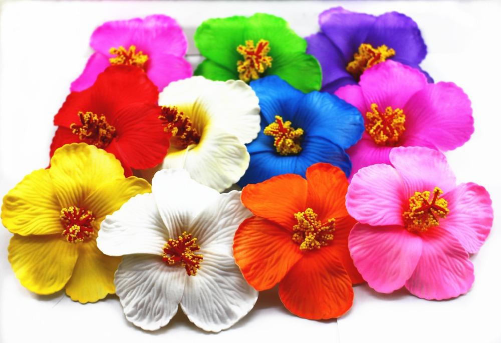 36pcs Free Shipping Mixed Colors Foam Hawaiian Flower