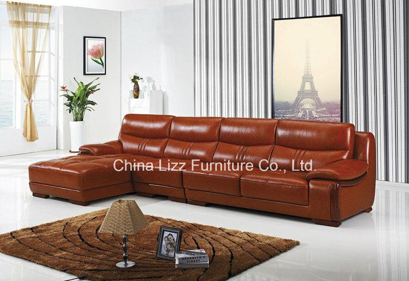 Lizz Leather Living Room Corner Sofa L Shape Sofa Quality