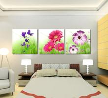Modern sunflowers Oil Painting Canvas Landscape Oil Pictures Decorative Painting Wall Art No Frame 3 pieces wall art LKB-ZH-131(China (Mainland))