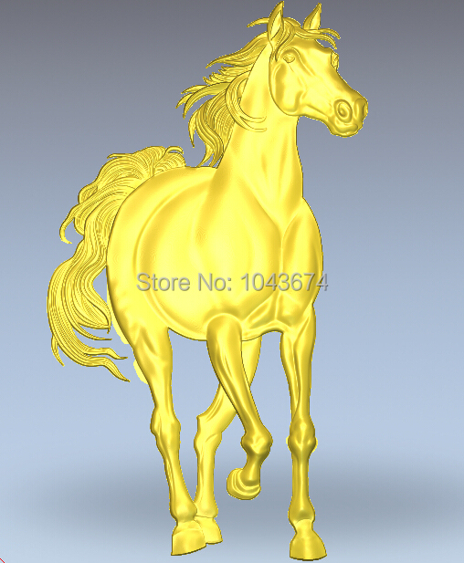 artcam 3d relief designs stl model used cnc rounter horse 003 - CNC Models Store store