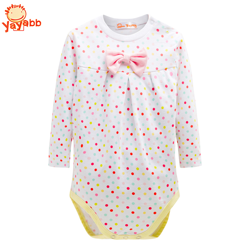 2016 Long-Sleeved 2Pcs/Pack Baby Clothing Newborn Baby Girl Clothes Cotton Baby Girl Bodysuits Fashion infantil Baby Body Suit(China (Mainland))
