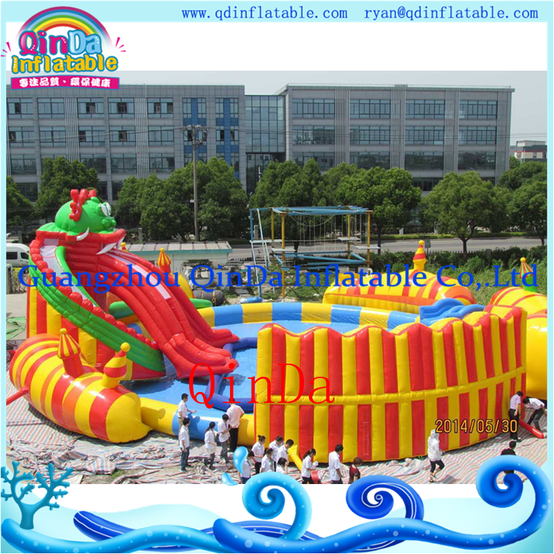 Inflatable mini water park inflatable water slide pool above ground pools for sale(China (Mainland))