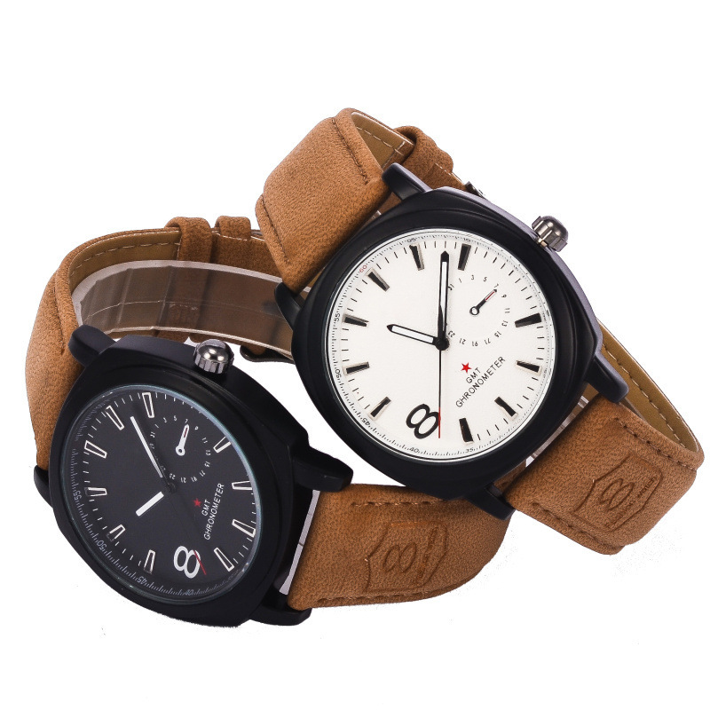 8139 matte leather belt military outdoor sports men watch table fashion trade selling(China (Mainland))