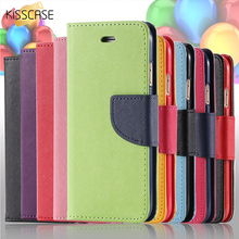 Buy KISSCASE Hit Color Magnetic Flip Leather Phone Case Samsung Galaxy S8 S7 S6 Edge Plus S5 S4 Card Slot Wallet Holster Cover for $3.99 in AliExpress store