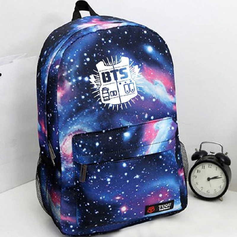 2015 Korean Fashion Women Backpack Printing BTS Backpack School Bags For Teenagers Waterproof Nylon Mens Backpack A861<br><br>Aliexpress