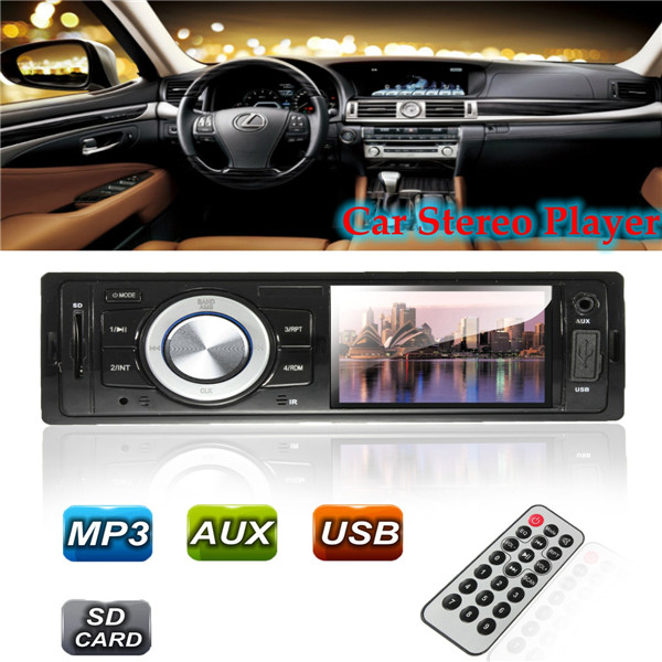 CAR VEHICLE RADIO MP3 MUSIC PLAYER STEREO IN DASH FM USB For SD AUX INPUT RECEIVER