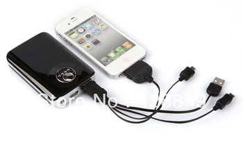 Dual USB 8800mAh Rechargeable External Battery,,Portable mobile phone charger for Tablet PC,Ipad,phones Free shipping!