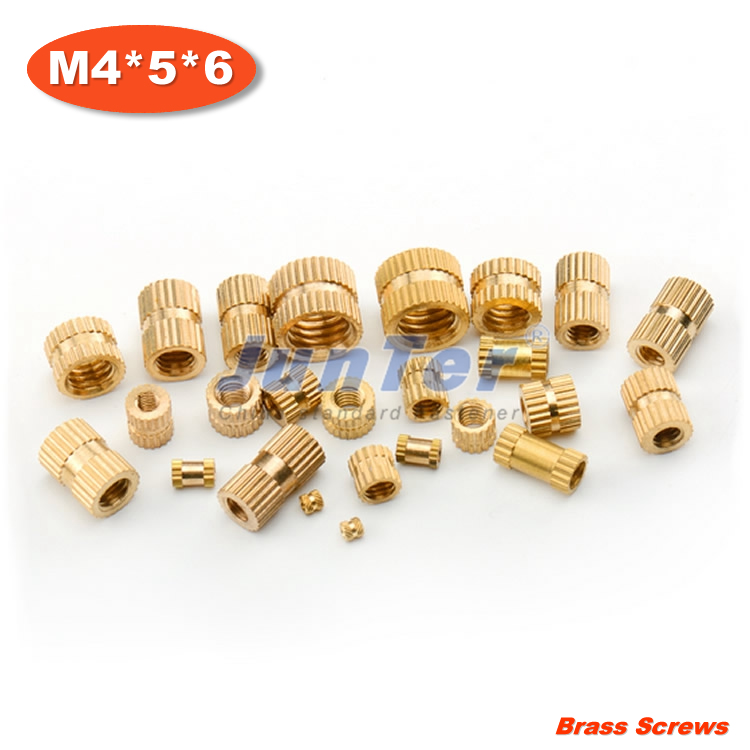 500pcs/lot M4*5*6 Injection copper nut Copper inserts Knurled nut Copper flower mother<br><br>Aliexpress