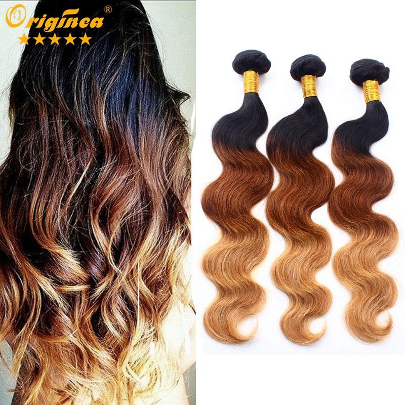 Grade 7A Peruvian Virgin Hair Body Wave Three 3 Tone Ombre Hair Extensions Unprocessed 3 Bundles Peruvian Body Wave Virgin Hair<br><br>Aliexpress