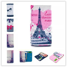 1Pcs New Arrive Flip Painted Wallet Phone Protective Cover Skin PU Leather Case For Mpie MP-H118 Case With Card Holder