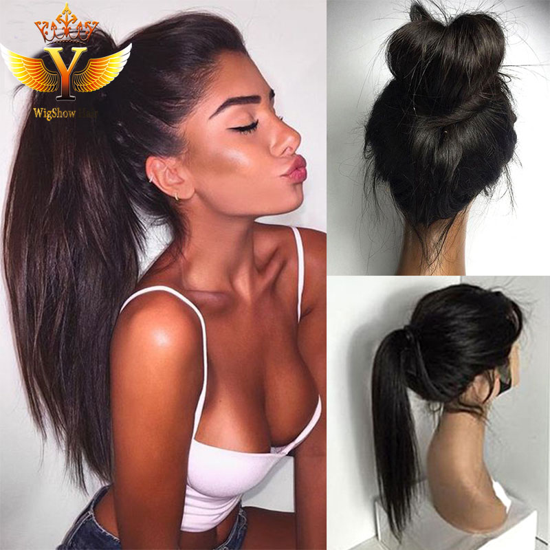 Indian Straight Hair Lace Front Wigs Prices Long Hair Wigs Full Lace Human Hair Wigs For Black Women Lace Front Human Hair Wigs(China (Mainland))