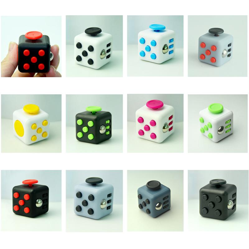 11 Types Fidget Cube Toys A Vinyl Desk Kickstarter Toys For Girl Boys Chrismtas Gifts Fidget Cube Black Green Grey Red Toys Cube(China (Mainland))