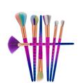 6Pcs Rainbow Fish Scale Mermaid Makeup Brushes Set for Foundation Liquid Powder Eyeshadow Blusher Blending Cosmetic