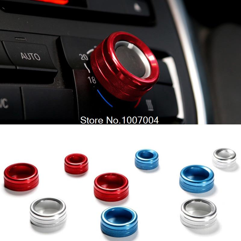Air conditioning knob decoration sticker/air conditioning/sound adornment circle fit for BMW 1 2 3 4 5 6 7 series X1 X5 X6(China (Mainland))