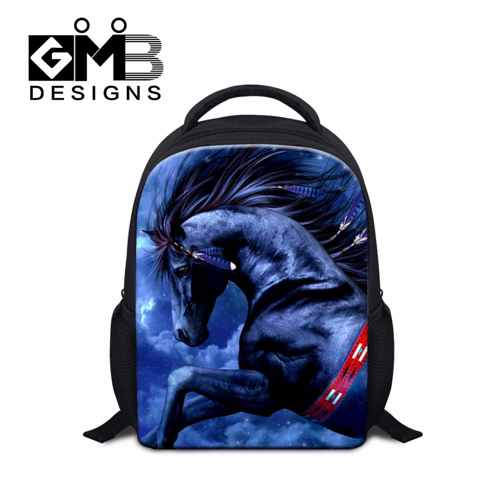 Clear School Backpacks for Children Kids Small Back Pack Horse Pattern Mochilas for Little Boys Cheap Ultra Light School bags(China (Mainland))