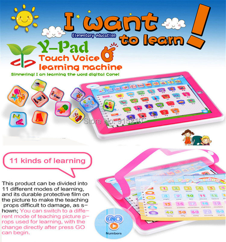 Usufull Kids Toy Pad 11-IN-1 Educational English Learning Machine Tablet Computer YPad laptop baby toys Children 2 colors - YS Toys store