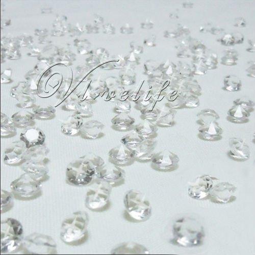 Free shipping&(1000pcs/bag) 6.5mm 1CT Clear Diamond Confetti Wedding Decoration