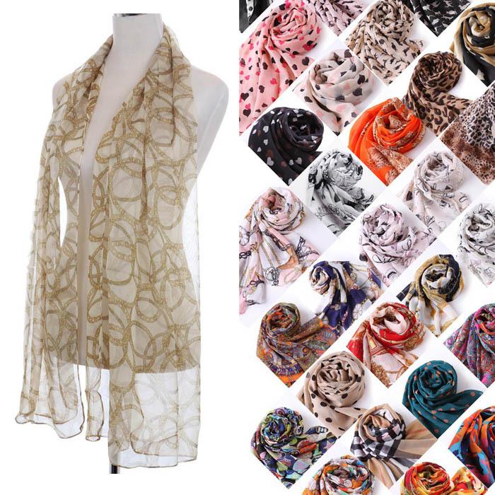 63 Patterms New Brand Fashion 2015 Spring Women Chiffon Scarf 155*43cm Desigual Colorful Print Scarves Wrap Free Shipping BK023(China (Mainland))