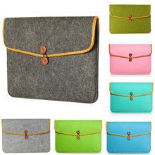 Buy Wool Felt Macbook Air/Pro/Retina Lenovo 11 13 15 Notebook Protector Laptop Sleeve Bag Case Carry Handle Bag Accessories for $10.98 in AliExpress store